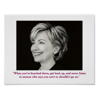 Poster Affiche positive de citation de Hillary Clinton