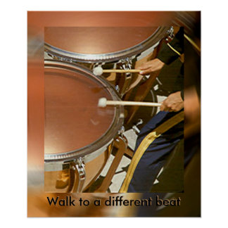 Poster Affiche - promenade de batteur à un battement