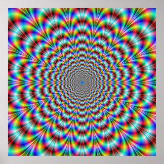 Poster Affiche psychédélique de cintreuse d'oeil