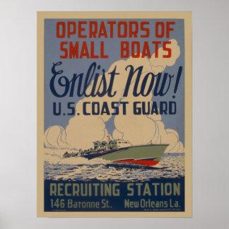 Poster Affiche recruteuse militaire vintage de la garde