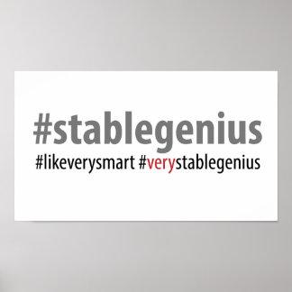 Poster affiche rectangulaire de #stablegenius