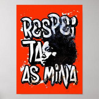 Poster Affiche Respecte la Mine