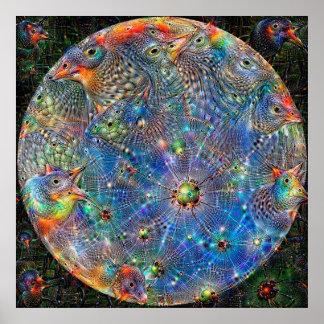 Poster Affiche rêveuse profonde de Mercury de planète
