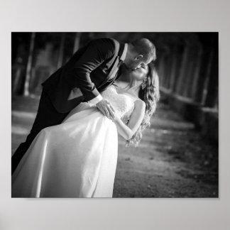 Poster Affiche romantique de jour du mariage