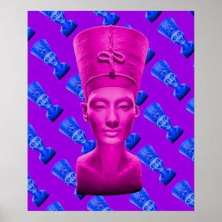 Poster Affiche rose de Nefertiti