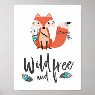 Poster Affiche sauvage et libre de peu de Fox