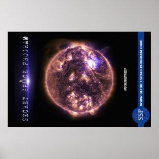 Poster Affiche secrète de programme spatial