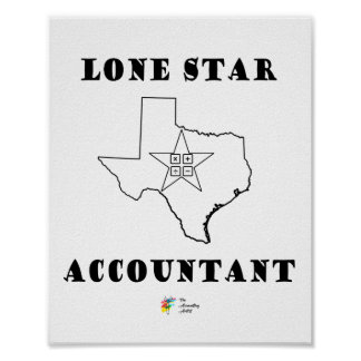 Poster Affiche solitaire de comptable d'étoile