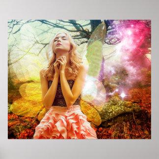 Poster Affiche spirituelle mystique de prière de fille