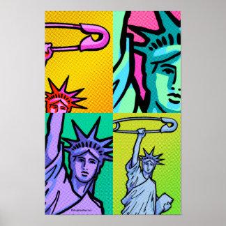 Poster Affiche SÛRE #7 4 de point de liberté : 11 x 16,5