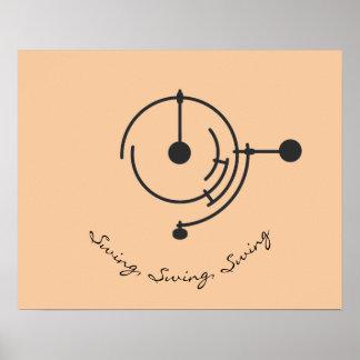 Poster Affiche triple de pendule de Minimalistic