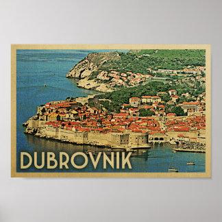 Poster Affiche vintage Croatie de voyage d'affiche de