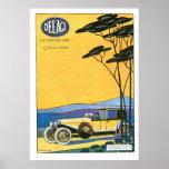 Poster Affiche vintage d'art d'annonce de Delage Le Voitu