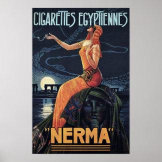 Poster Affiche vintage de cigarette