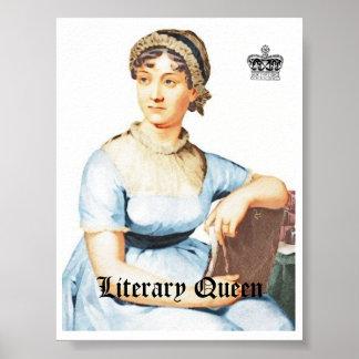 Poster Affiche vintage de Jane Austen de style