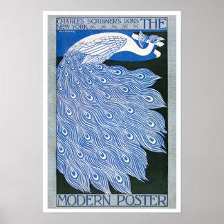 Poster Affiche vintage de la publicité de Nouveau d'art -