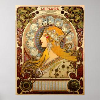 Poster Affiche vintage de Nouveau France de Français de