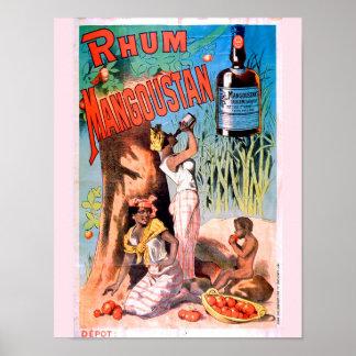 Poster Affiche vintage de publicité d'art - rhum