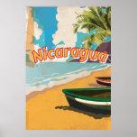 Poster Affiche vintage de vacances du Nicaragua