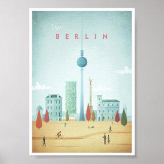 Poster Affiche vintage de voyage de Berlin