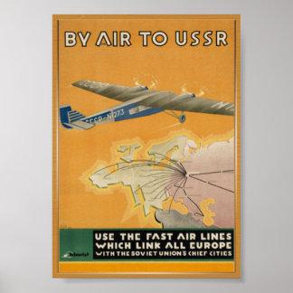 Poster Affiche vintage de voyage d'Union Soviétique