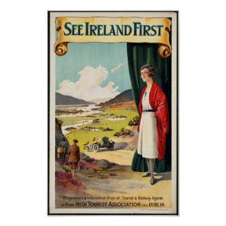 Poster Affiche vintage de voyage pour l'Irlande