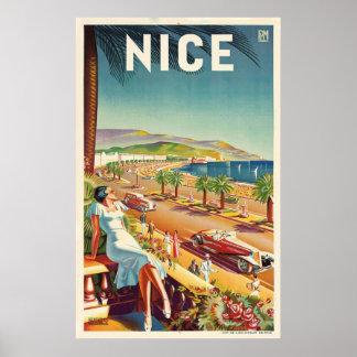 Poster Affiche vintage gentille de voyage de la France