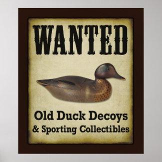 Poster AFFICHE : Voulu - leurres de canard