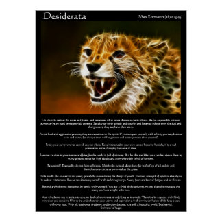 Poster Affiches 13 de desiderata