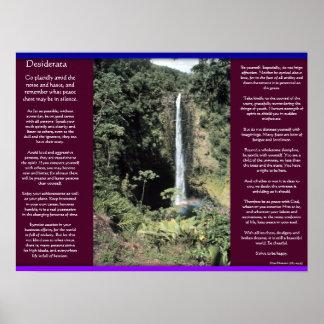 Poster Affiches 6 de cascades de DESIDERATA