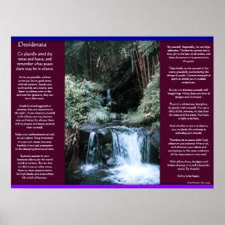Poster Affiches 7 de cascades de DESIDERATA