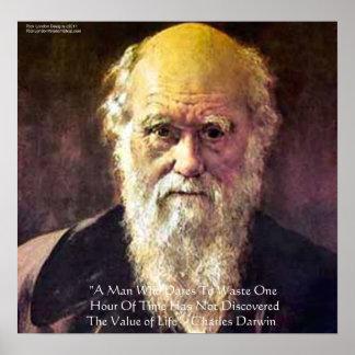 Poster Affiches de citation de sagesse de vie de Darwin