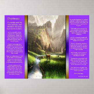 Poster Affiches de Deer Valley de desiderata