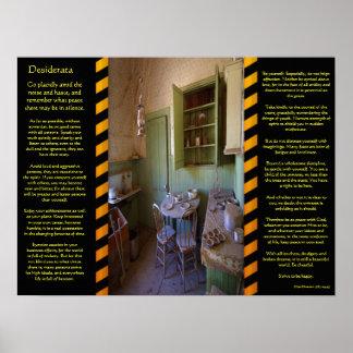 Poster Affiches de pièce de fantôme de DESIDERATA