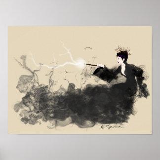 Poster Affiches de sorcière de débauche et de malice