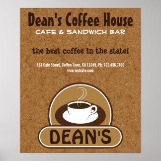 Poster Affiches faites sur commande de café de tasse de