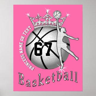 Poster Affiches mignonnes superbes de basket-ball avec le