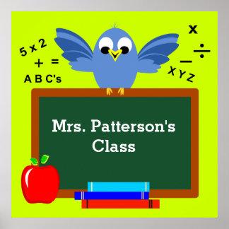 Poster Affiches personnalisées de salle de classe