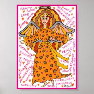 Poster Affirmations positives d'ange d'abondance mini