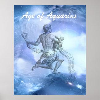 Poster Âge de zodiaque de Verseau