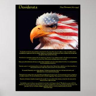 Poster Aigle chauve 1Posters de desiderata