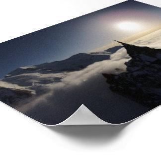 Poster Aiguille du Midi et Mont Blanc au coucher du
