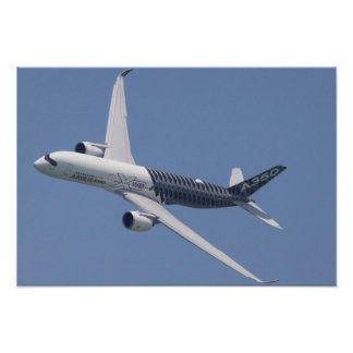 Poster Airbus A350 en vol