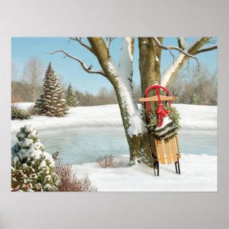 "Poster Alan Giana ""hiver rêve"" l'affiche"