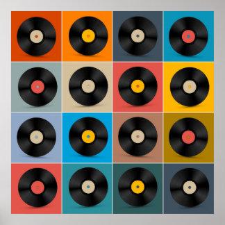 Poster Album, disque vinyle, affiche de musique