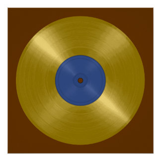 Poster Album record d'or