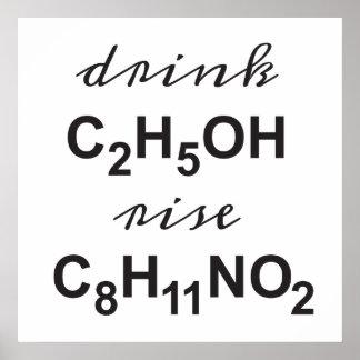 Poster alcool de boissons - se lèvent votre dopamine