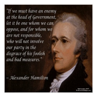 "Poster Alexander Hamilton et affiche de citation ""de chef"