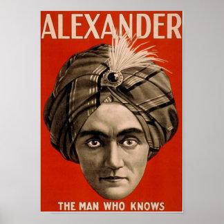 Poster Alexandre l'homme qui sait