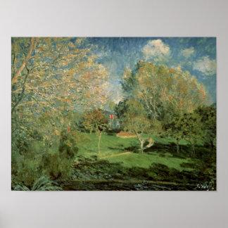 Poster Alfred Sisley   le jardin de la famille de